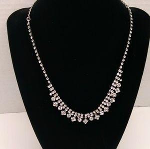 "Jewelry - Rhinestone necklace 17.5"" adjustable"